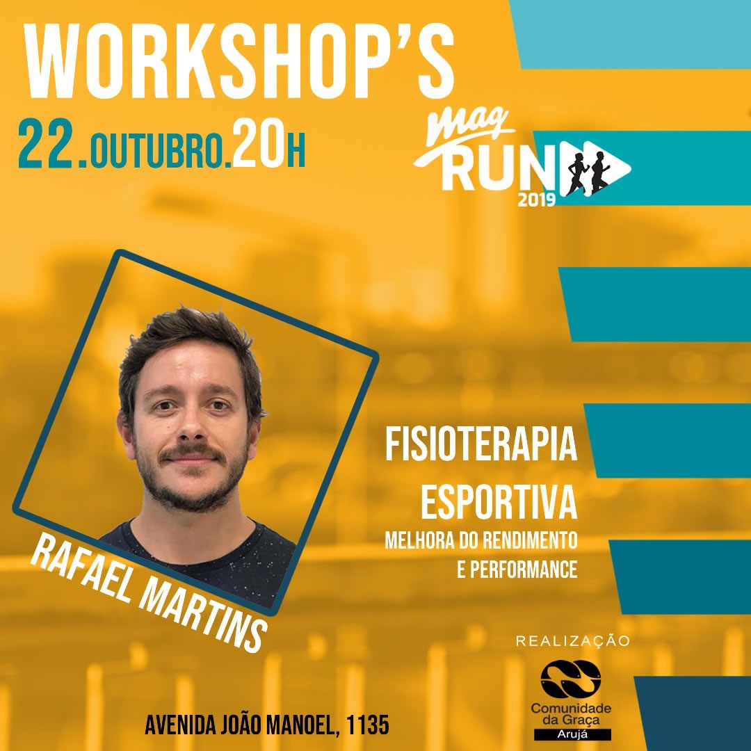 WorkShop Fisioterapia Esportiva - MAG-RUN-2019
